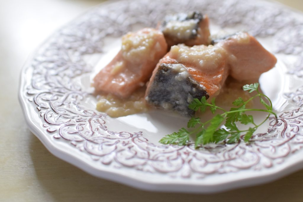 鮭の雑穀クリーム煮