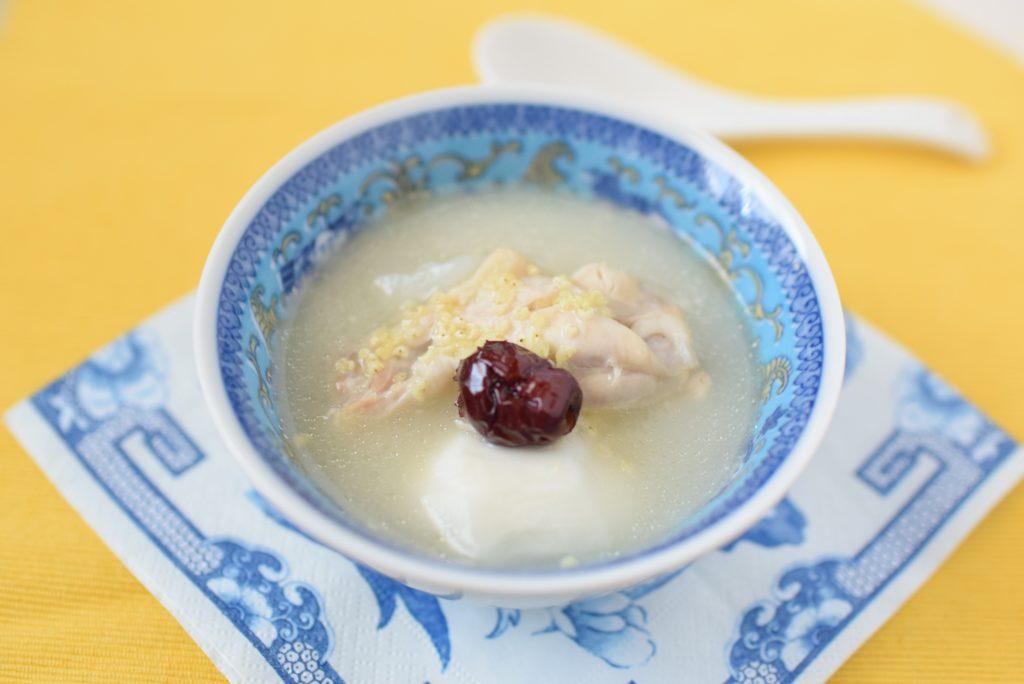 アンチエイジングレシピ 雑穀参鶏湯風スープ