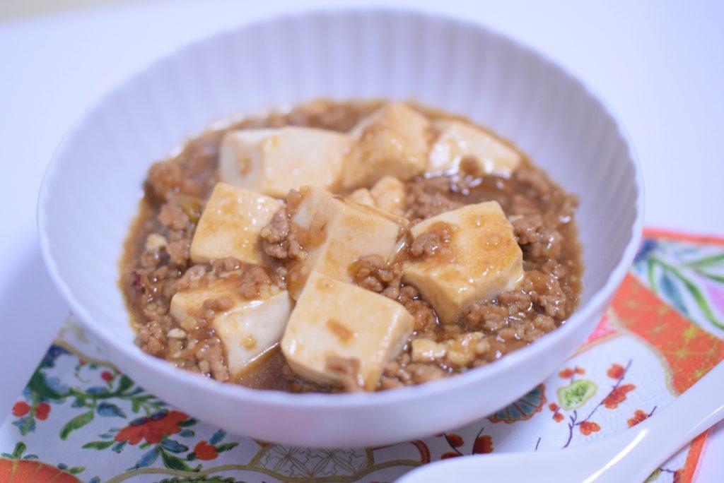 雑穀で時短 辛すぎない マーボー豆腐