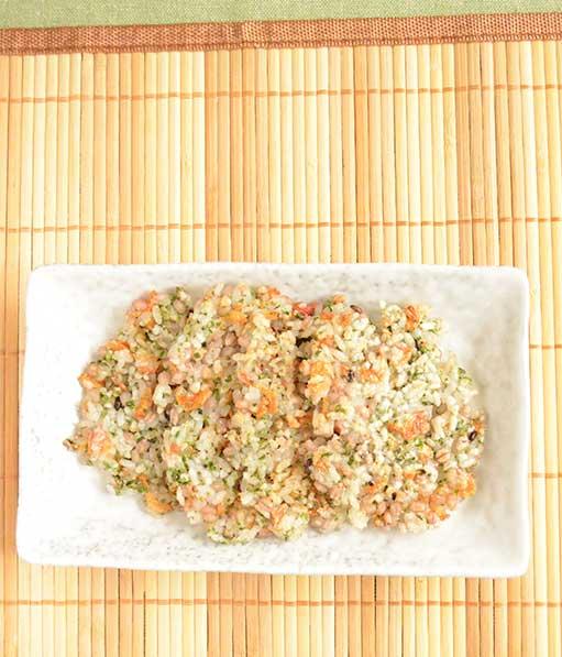 体活性ブレンドを使ったレシピ  雑穀せんべい