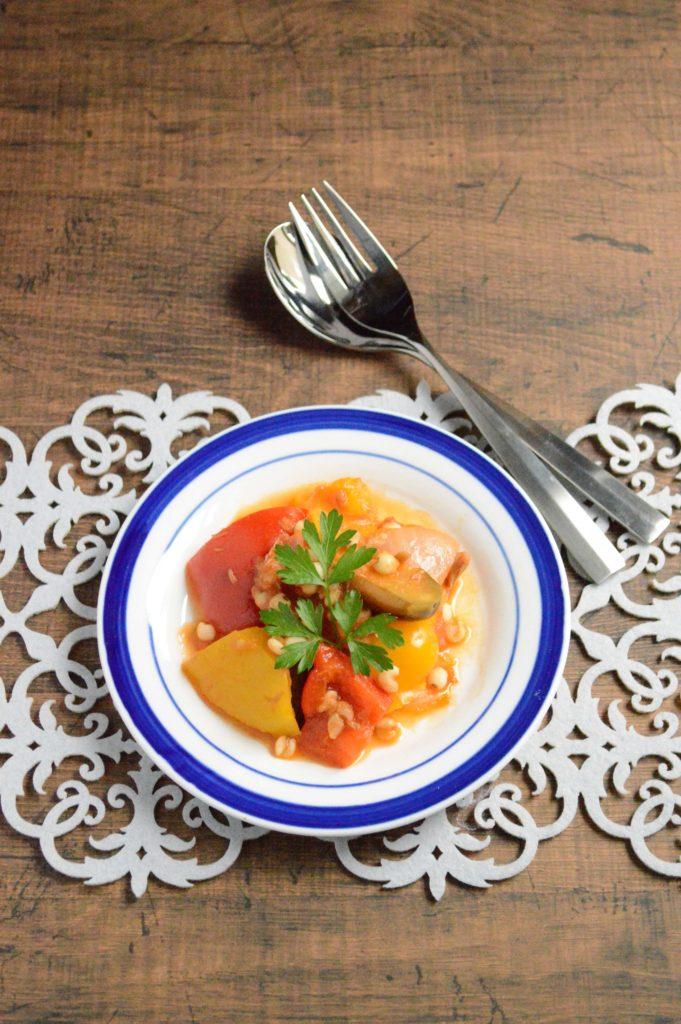夏野菜のツナトマト煮