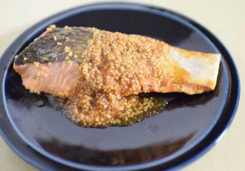 鮭のソテー雑穀甘酢ソース
