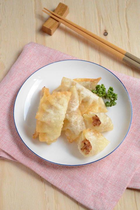 たかきびとチーズのカリッと揚げ