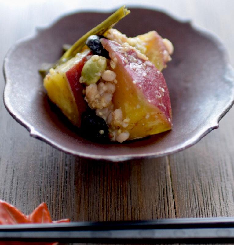 yasuko-107さつま芋と昆布の大豆雑穀煮横